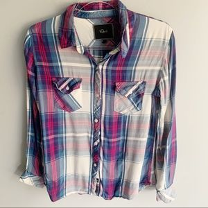 Rails Plaid Button Up Flannel Shirt